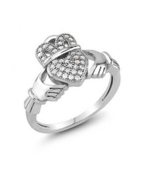 Claddagh Silver Ring