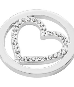 Heart Coin - Silver plated