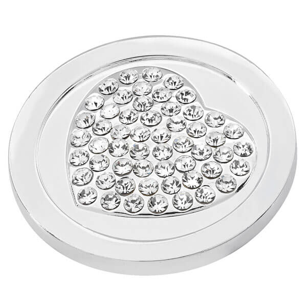 Heart of diamonds coin - Silver plated