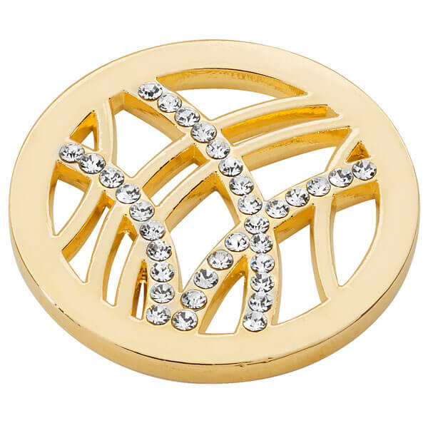 Linear Design coin - Yellow Gold plated