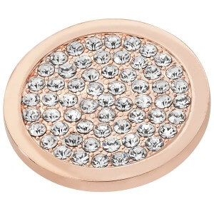 Sparkly Disc Coin - Rose Gold plated