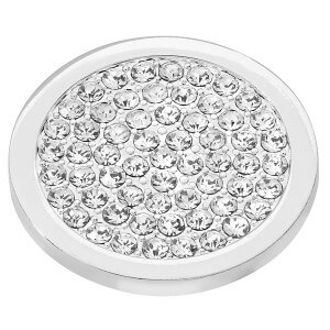 Sparkly Disc Coin - Silver plated