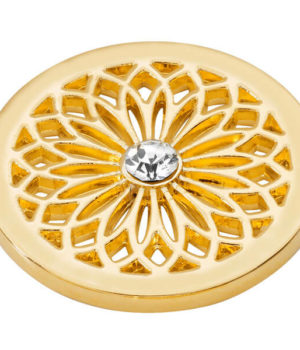 Flower Coin - Yellow Gold plated