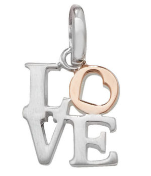 two tone love pendant