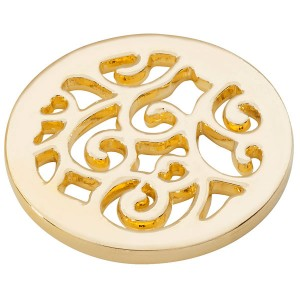 winding paths coin - Yellow Gold plated