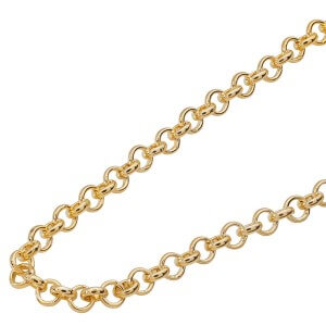yellow gold coin necklace chain