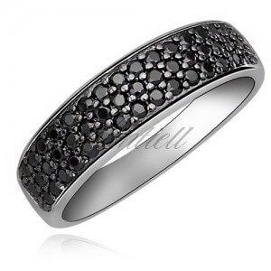 Classic ring with Black zirconia