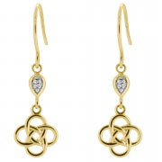 Celtic Knot Earrings - 9ct Yellow Gold