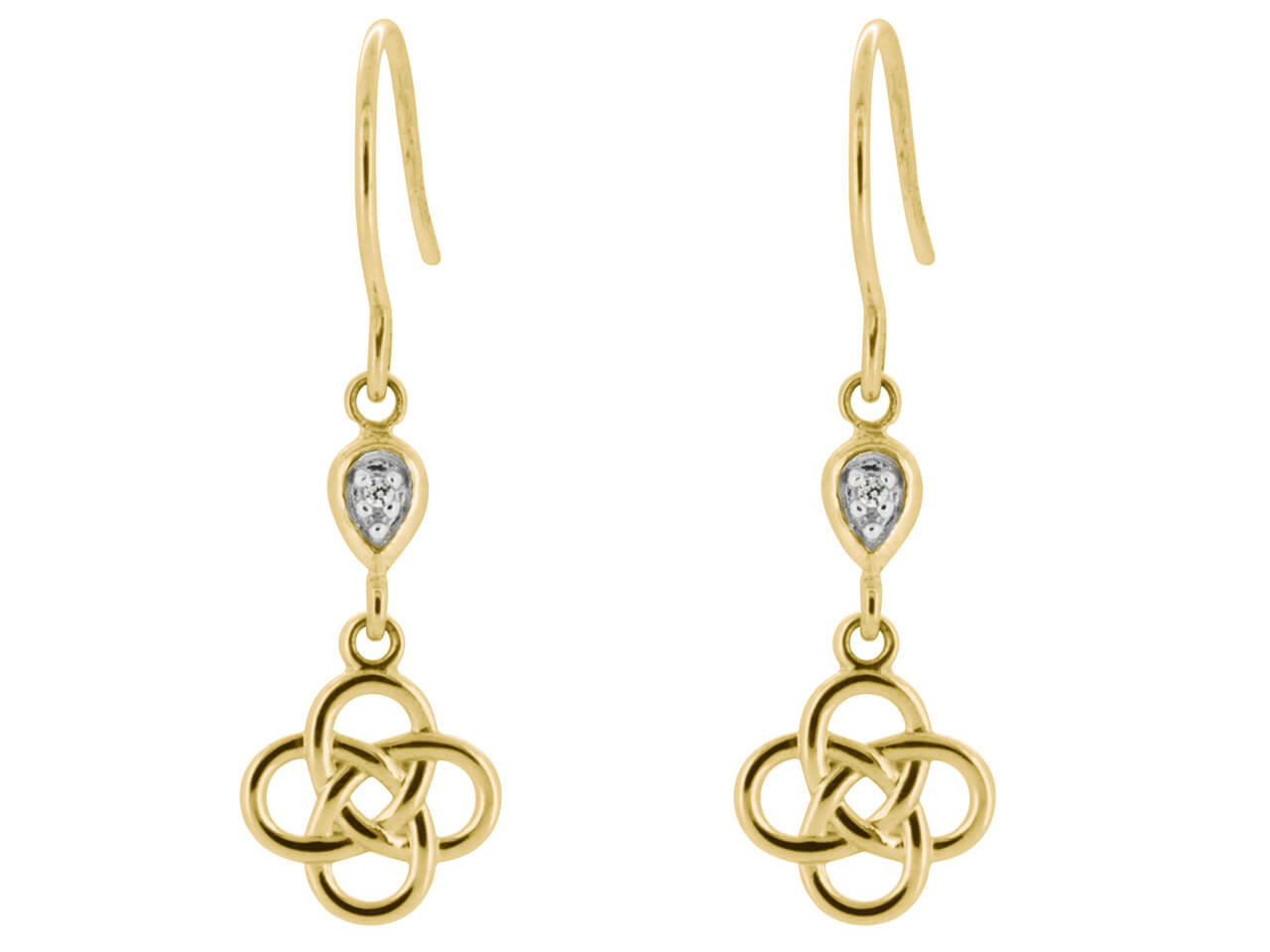 kay en mv yellow kaystore dangle gold knot celtic zm earrings