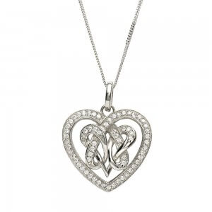 Double Intertwined Heart Necklace