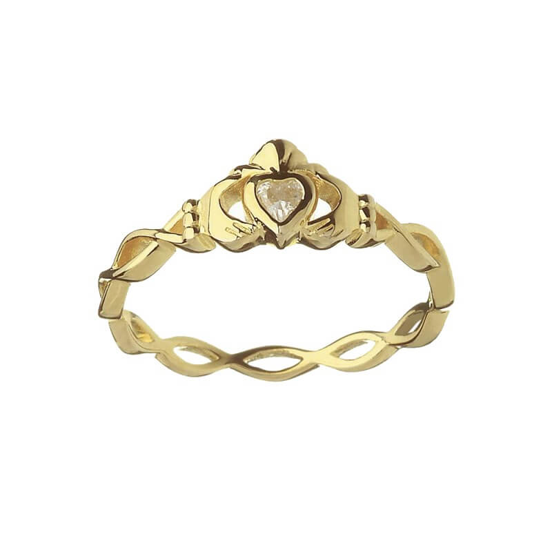 Claddagh Ring Twisted Band